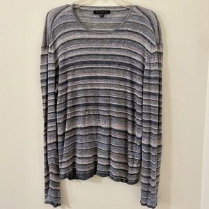 Men's John Varvatos Striped Knit Linen Shirt